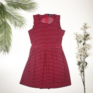 Madewell | Afternoon Striped Dress Red & Navy